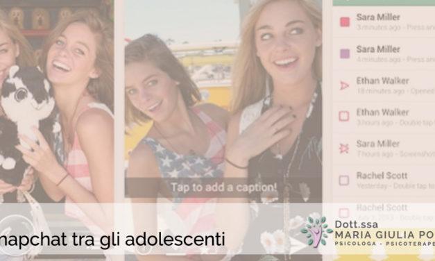 Snapchat tra gli adolescenti