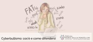 Cyberbullismo Psicologa Psicoterapeuta Bologna