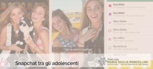 Snapchat tra gli adolescenti - Psicologa Psicoterapeuta Bologna