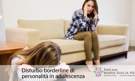 Il disturbo borderline di personalità in adolescenza